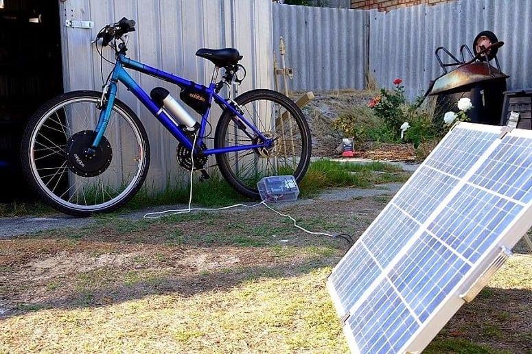 Using Solar Panels For Charging Ebike