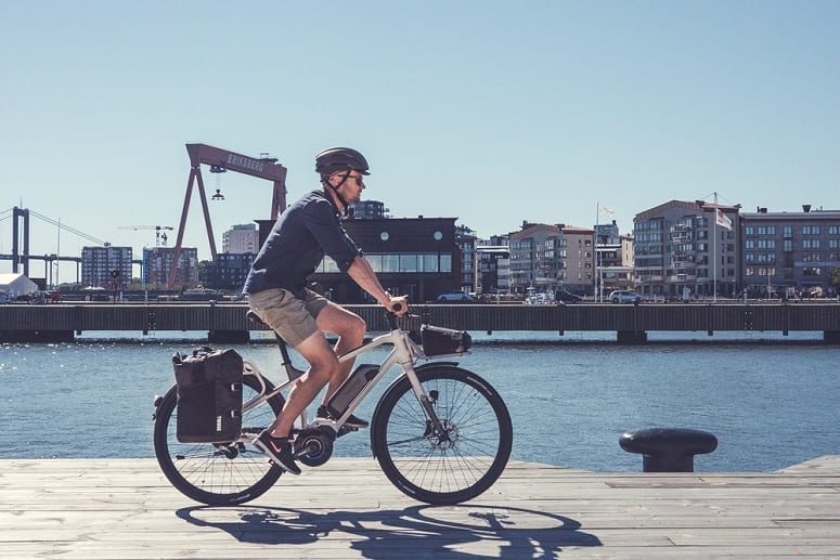 Man Riding Ebike