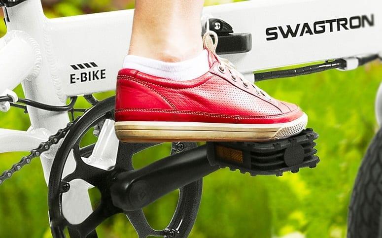 Leg On Ebike Pedal