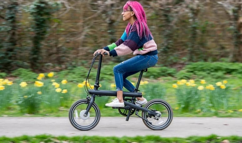 Young Girl Driving Ebike