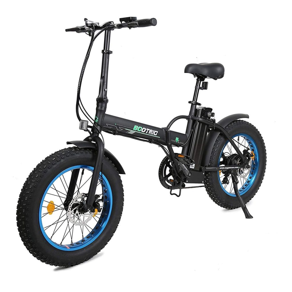 ECOTRIC 20 New Fat Tire Folding Electric Bike Beach Snow Bicycle ebike