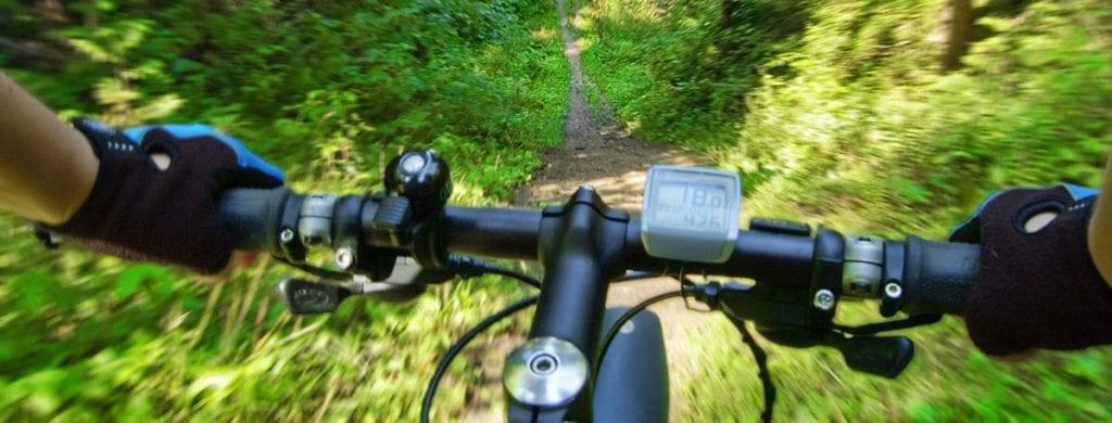 best hunting ebike speeding down a trail